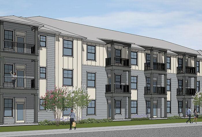rendering of Landon Preserve apartment building